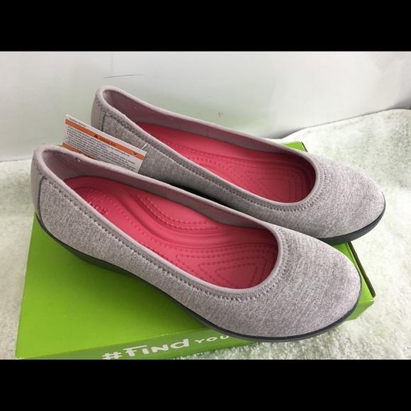 d73b5a462 CROCS Shoes - NWB CROCS Weight Light Grey Relaxed Ballet Sz 8